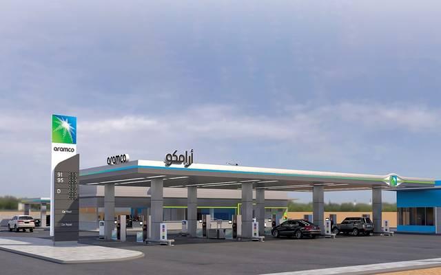 محطة وقود تابعة لشركة أرامكو السعودية
