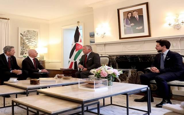لقاء الملك عبدالله الثاني مع وزير الأمن الداخلي الأمريكي أليخاندرو مايوركاس