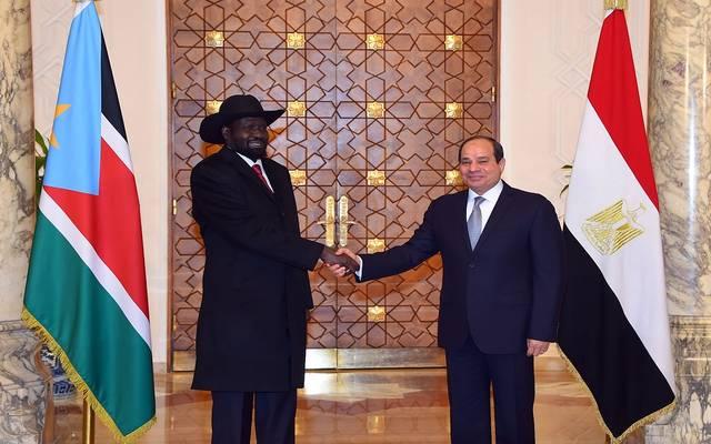 الرئيس عبدالفتاح السيسي ورئيس جنوب السودان