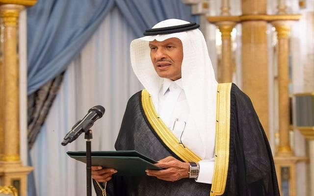 وزير الطاقة السعودي، الأمير عبدالعزيز بن سلمان خلال تأدية القسم