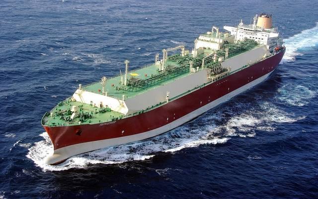 إحدى الناقلات التابعة لشركة قطر لنقل الغاز المحدودة