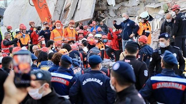صورة لزلزال إزمیر