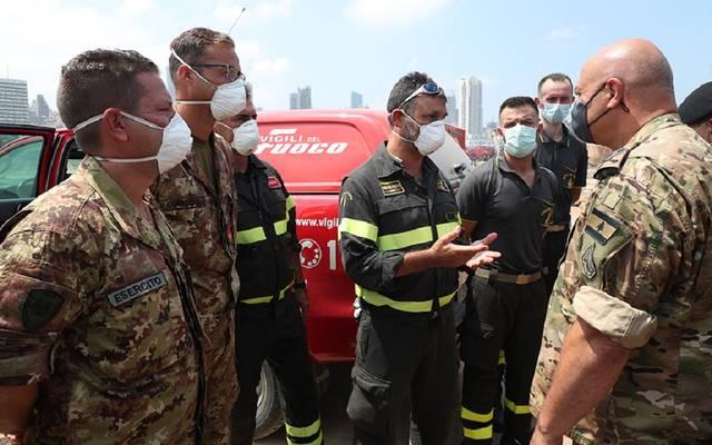 تفقّد منطقة الانفجار في مرفأ بيروت
