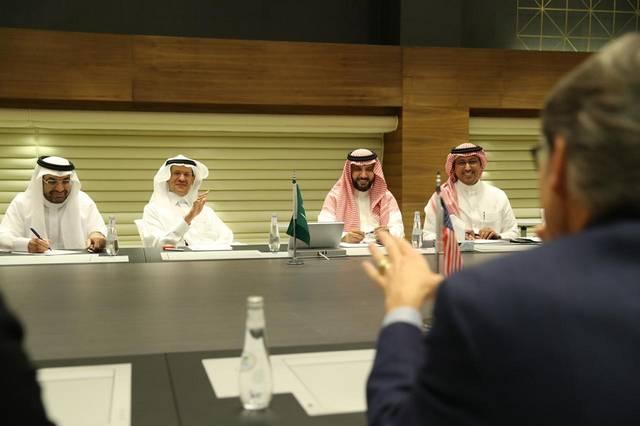 لقاء وزير الطاقة السعودي الأمير عبدالعزيز بن سلمان مع نظيره الأمريكي في الرياض
