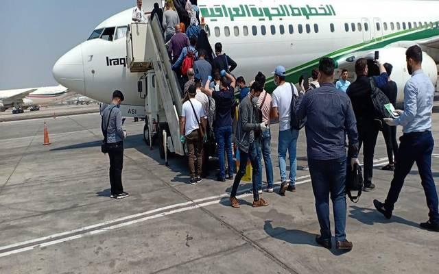 الخطوط الجوية العراقية تنقل مواطنين عالقين بالقاهرة خلال أزمة كورونا