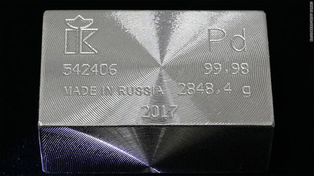Palladium prices recently reached its highest level in 16 years
