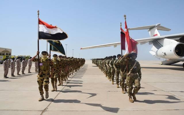 جانب من التدريب المشترك - صفحة المتحدث العسكري المصري على فيس بوك