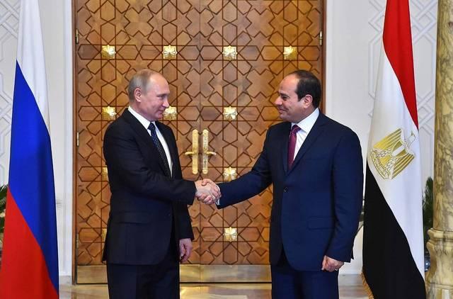 الرئيسان فلاديمير بوتين وعبد الفتاح السيسي - أرشيفية