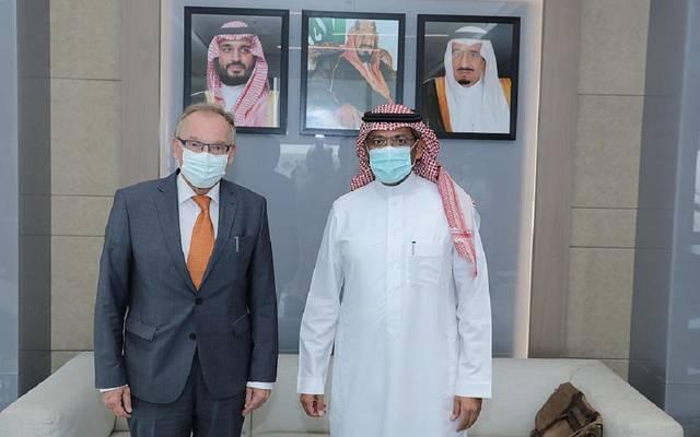 بندر بن إبراهيم الخريِّف مع سفير جمهوريـة ألمانيا الاتحادية