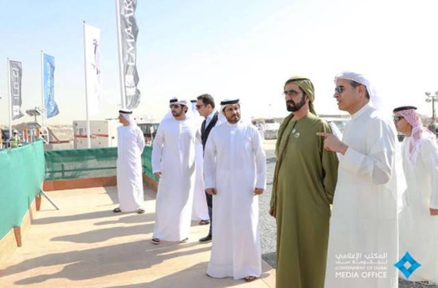 على هامش زيادة الشيخ محمد بن راشد آل مكتوم نائب رئيس الدولة رئيس مجلس الوزراء حاكم دبي