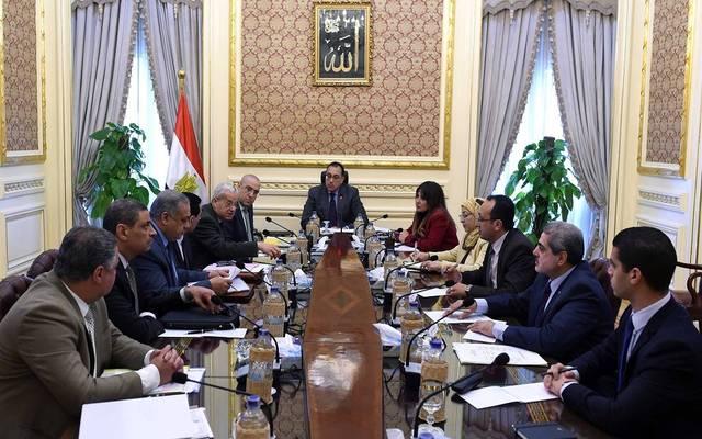 خلال اجتماع مجلس الوزراء المصري اليوم