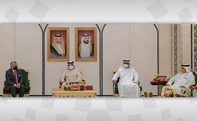 جانب من القمة العربية الثلاثية في أبوظبي