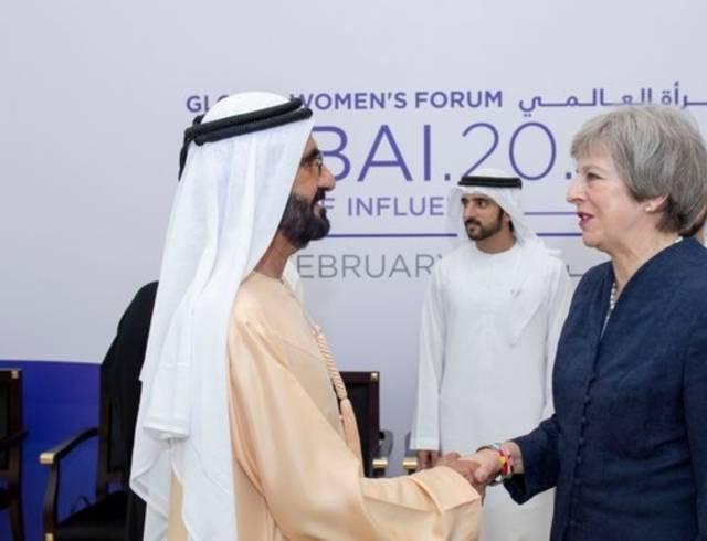الإمارات تسعى لتوسيع التعاون مع بريطانيا بمختلف المجالات