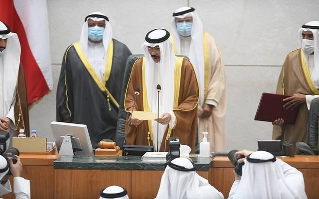 أمير الكويت الجديد، الشيخ نواف الأحمد الجابر الصباح، يؤدي اليمين الدستورية أمام البرلمان