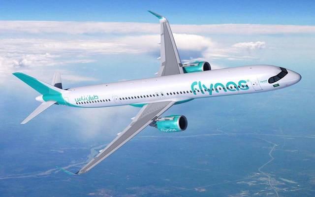طائرة تابعة لشركة طيران ناس السعودية