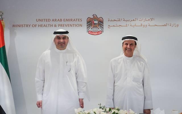 جانب من مراسم إطلاق نظام جديد لإدارة الصحة العامة في الإمارات