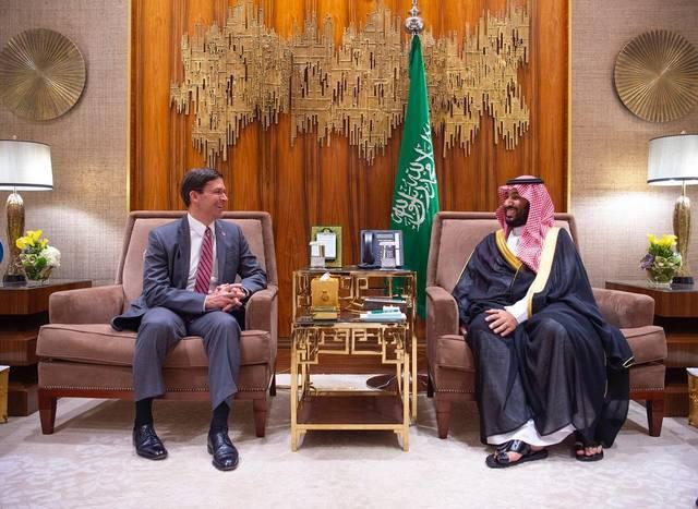 الأمير محمد بن سلمان ولي العهد السعودي - وزير الدفاع الأمريكي مارك إسبر