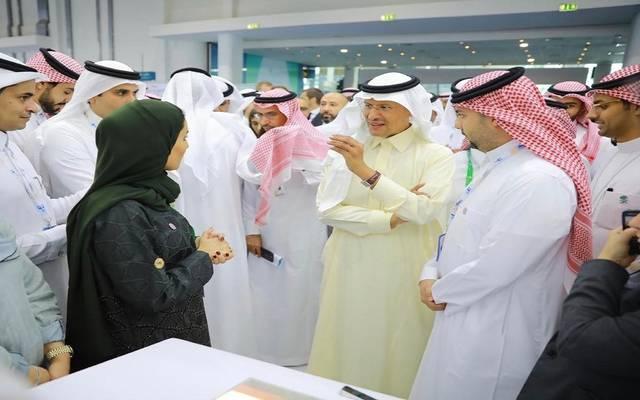 جانب من مشاركة وزير الطاقة السعودي في مؤتمر أبوظبي