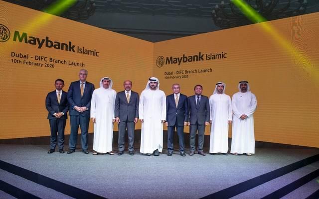 جانب من افتتاح فرع البنك الماليزي في دبي