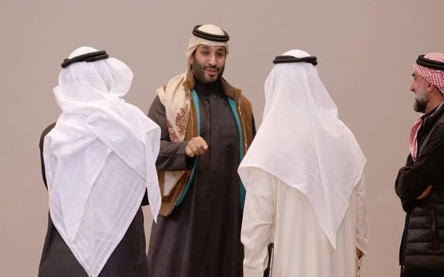 الأمير محمد بن سلمان خلال إعلان الاستراتيجية