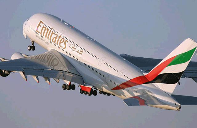 إحدى ناقلات شركة طيران الإمارات