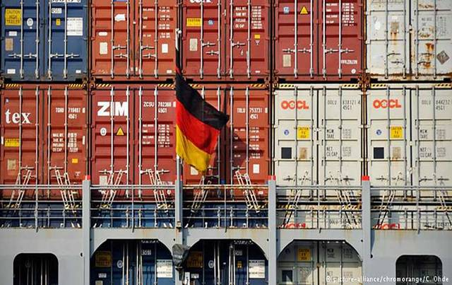 German exports record sharpest drop in 3 yrs