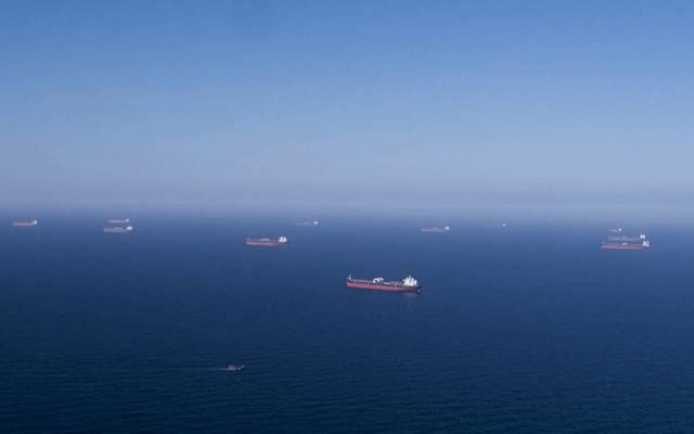 جانب من ناقلات النفط التي تم تحميلها من جانب أرامكو السعودية
