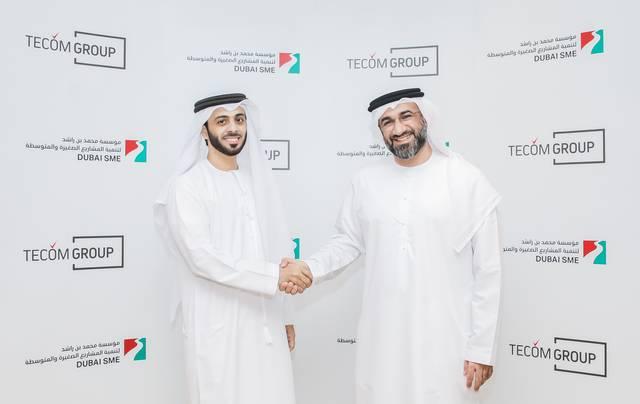 الرئيس التنفيذي لمجموعة تيكوم مالك آل مالك - الرئيس التنفيذي لمؤسسة محمد بن راشد لتنمية المشاريع الصغيرة والمتوسطة عبدالباسط الجناحي
