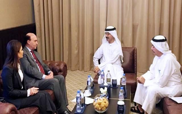 جانب من اللقاء مع الرئيس التنفيذي لموانئ دبي العالمية