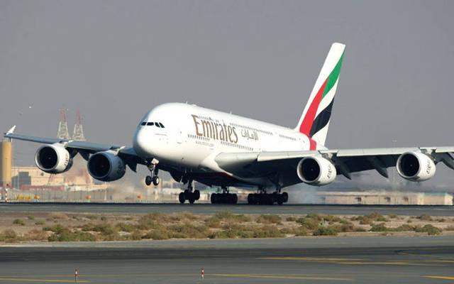 طائرة مملوكة لمجموعة طيران الإمارات