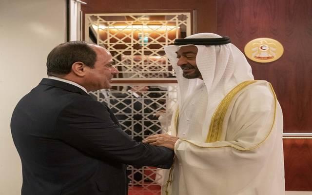 خلال استقبال ولي عهد أبوظبي للرئيس المصري