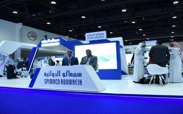 جناح تابع للشركة السعودية للصناعات الدوائية والمستلزمات الطبية بأحد المعارض
