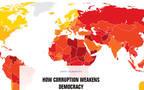 قطر والسعودية وعُمان في الترتيب بعد الإمارات- الصورة من موقع منظمة الشفافية الدولية