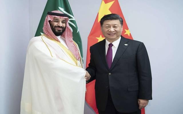 ولي العهد مع الرئيس الصيني