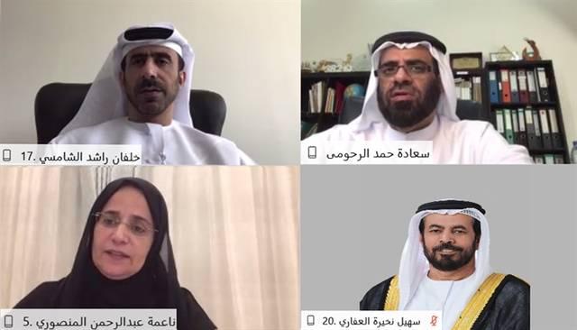 جانب من اجتماع لجنة الشؤون الإسلامية والأوقاف والمرافق العامة في المجلس الوطني الاتحادي بدولة الإمارات