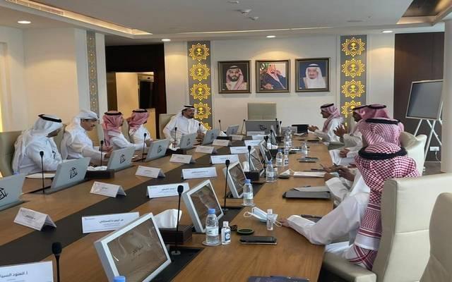 جانب من اجتماع الهيئة العامة لعقارات الدولة مع منظومة الاتصالات الحكومية