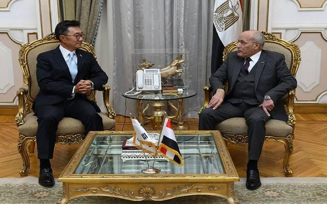 وزير الدولة للإنتاج الحربي وسفير كوريا الجنوبية بالقاهرة