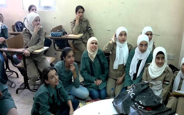 تلاميذ بإحدى المدارس في الأردن
