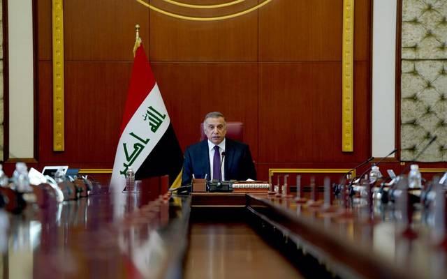 مصطفى الكاظمي خلال جلسة الوزراء