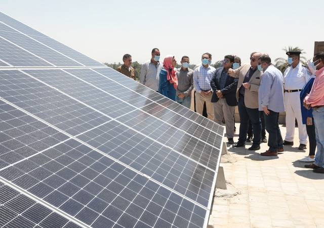 the six solar plants have a combined capacity of EGP 75 kilowatts