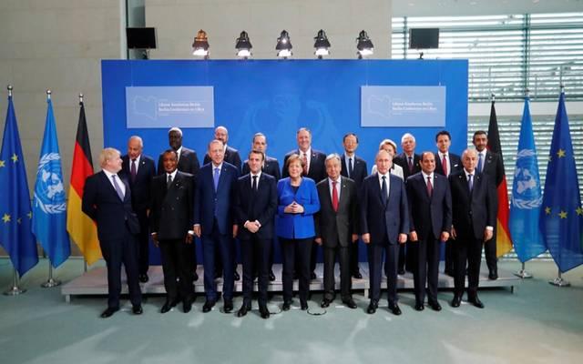 جانب من الحضور في قمة برلين