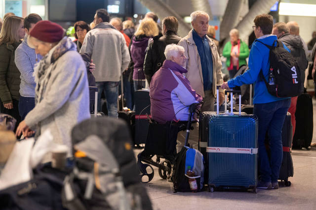 640 flights cancelled on security staff strike in Germany