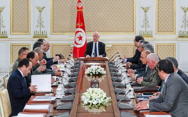 جانب من اجتماع مجلس الأمن القومي التونسي
