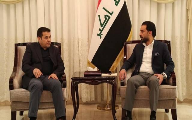 رئيس مجلس النواب، محمد الحلبوسي، يستقبل مستشار الأمن القومي، قاسم الأعرجي