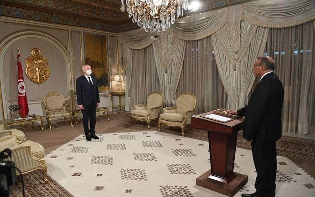 رضا غرسلاوي يؤدي اليمين الدستورية أمام رئيس تونس