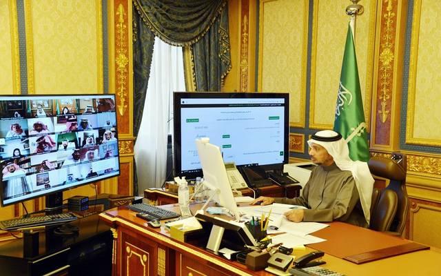 خلال جلسة مجلس الشورى السعودي أمس الثلاثاء