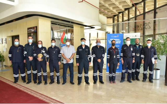 مجلس إدارة مؤسسة البترول الكويتية في زيارة إلى مصفاة ميناء عبدالله
