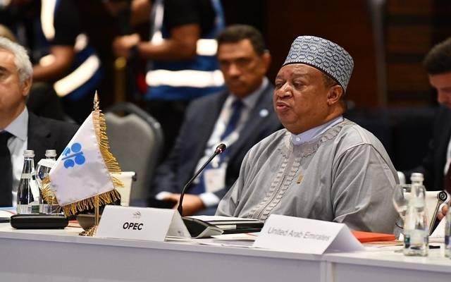 الأمين العام لمنظمة أوبك، محمد باركيندو- خلال مؤتمر الطاقة العالمي في أبوظبي 2019