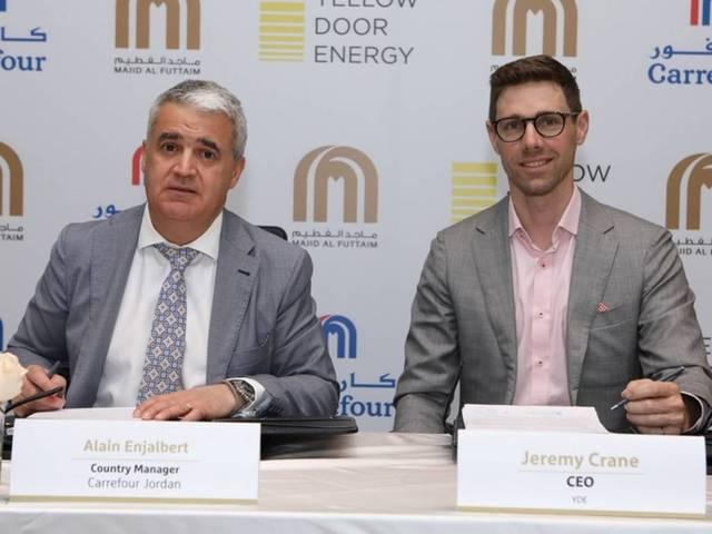 The 17-megawatt BOOT agreement will bring 29 gigawatt-hours of clean energy to Carrefour Jordan stores