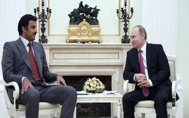 أمير قطر والرئيس الروسي